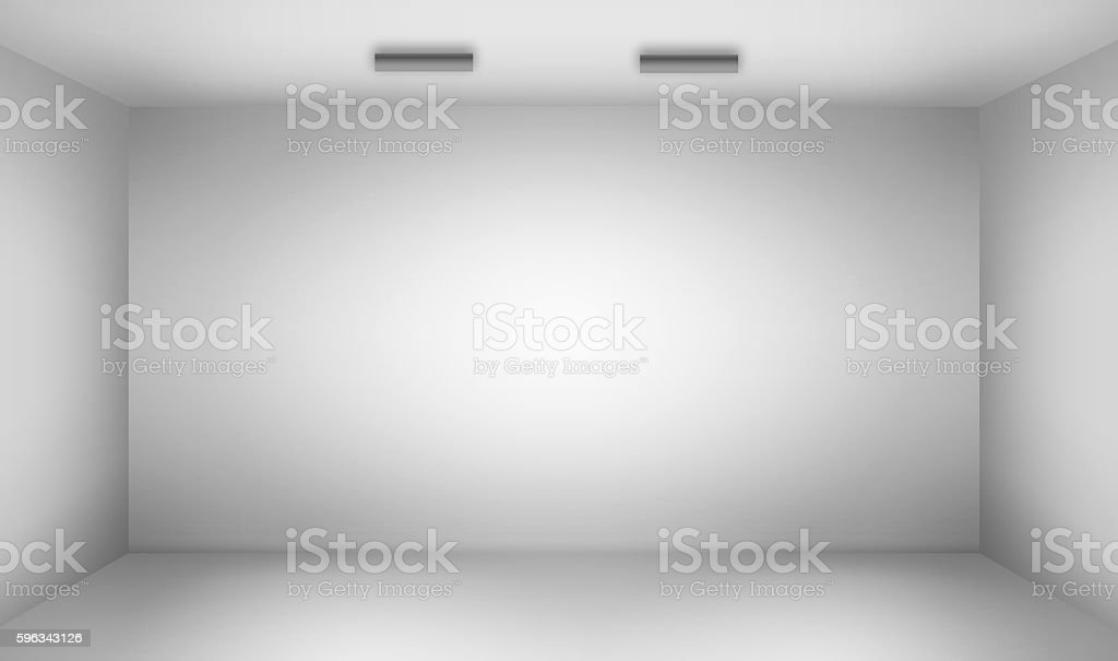 Empty room with lightspots royalty-free stock photo