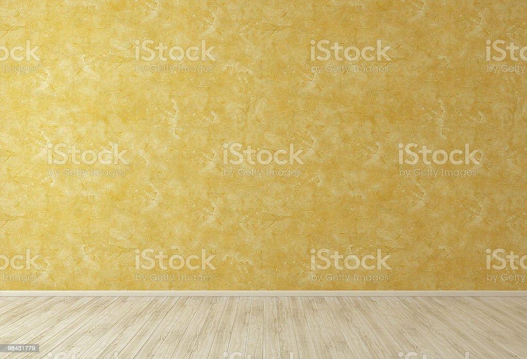 엠티 룸 오랑주 스투코 벽 royalty-free 스톡 사진
