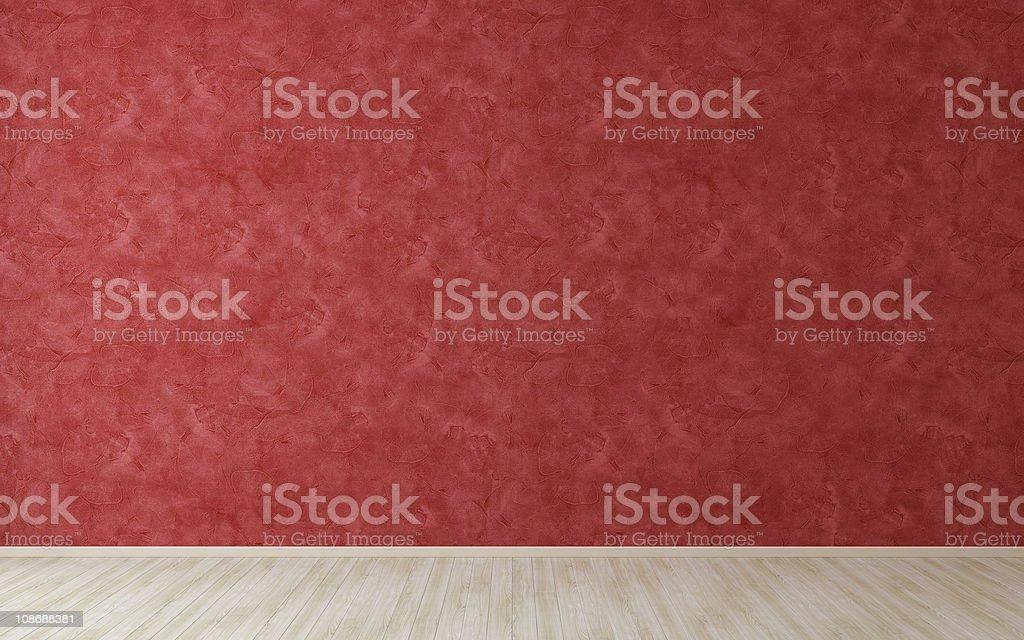 Leeren Raum mit roten Stuck Wand – Foto