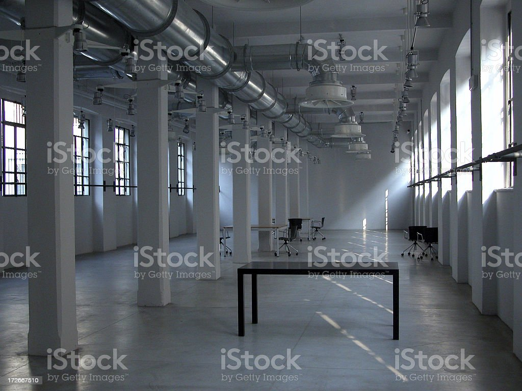 Empty room with some furniture royalty-free stock photo