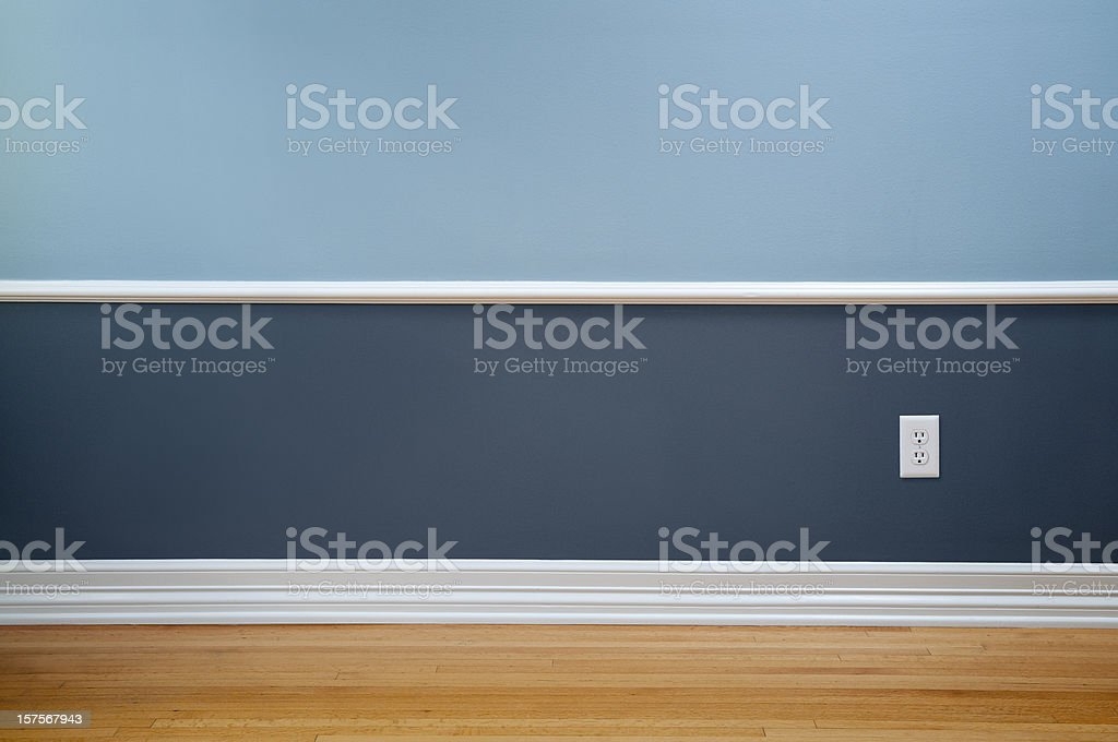 Empty Room With Wall Plug stock photo