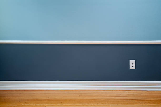 empty room with wall plug - electrical outlet stock photos and pictures
