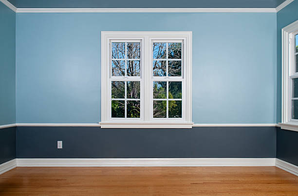 empty room with window - solar panel bildbanksfoton och bilder