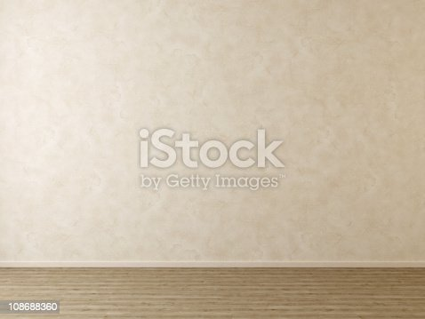 629801250istockphoto Empty Room without Furniture - Plaster Wall and Wooden Floor 108688360