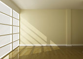 empty roon of interior 3d rendering