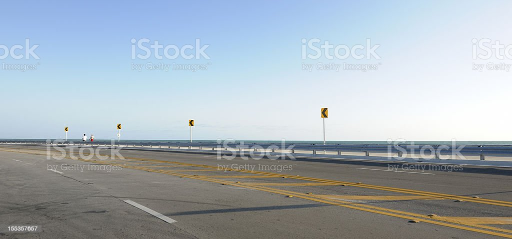 empty Roosevelt Boulevard, Key West Florida USA royalty-free stock photo
