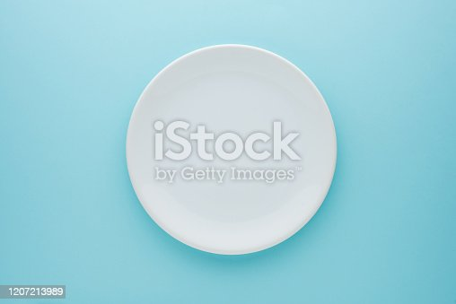 Plate, White Color, Empty Plate, Directly Above,