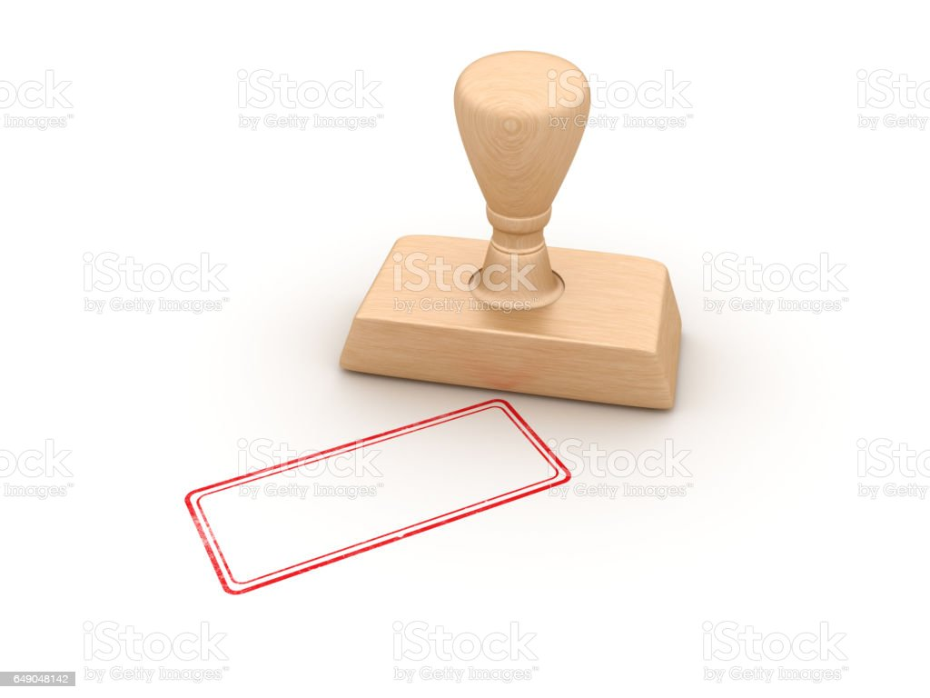 Empty Rubber Stamp - 3D Rendering stock photo