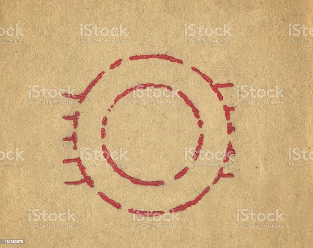 Empty Rubber Stamp royalty-free stock photo