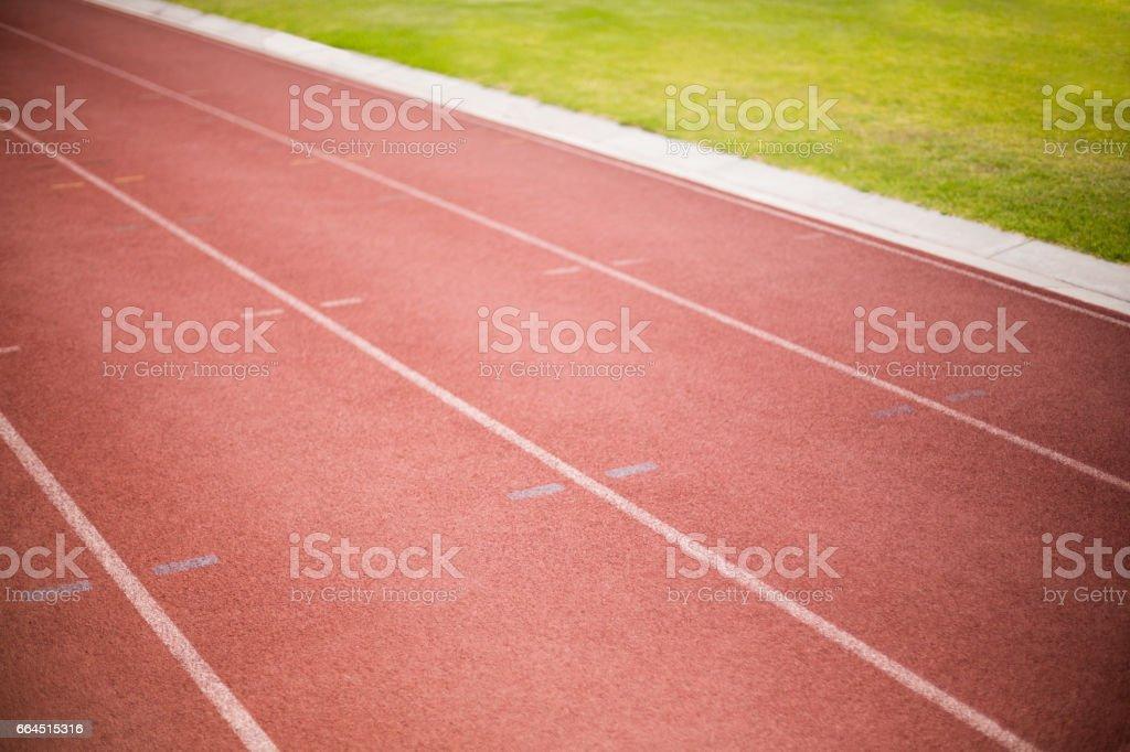Empty running track royalty-free stock photo