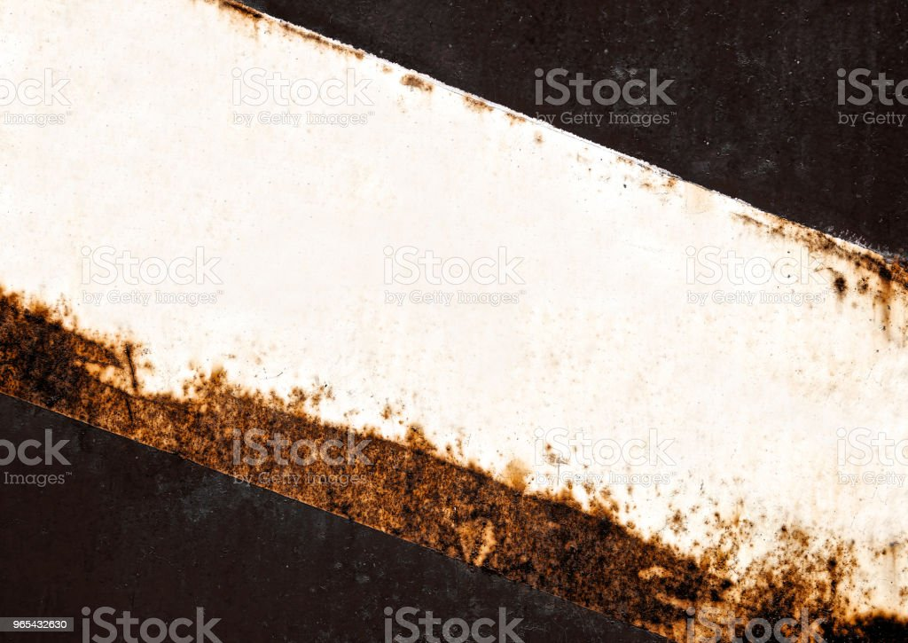 Empty rusted sheet texture metal on wall black background. Stain rust texture surface old iron sheet. Vintage and retro wallpaper. Close up. zbiór zdjęć royalty-free