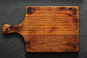 Empty Rustic Cutting Board with Copy Space
