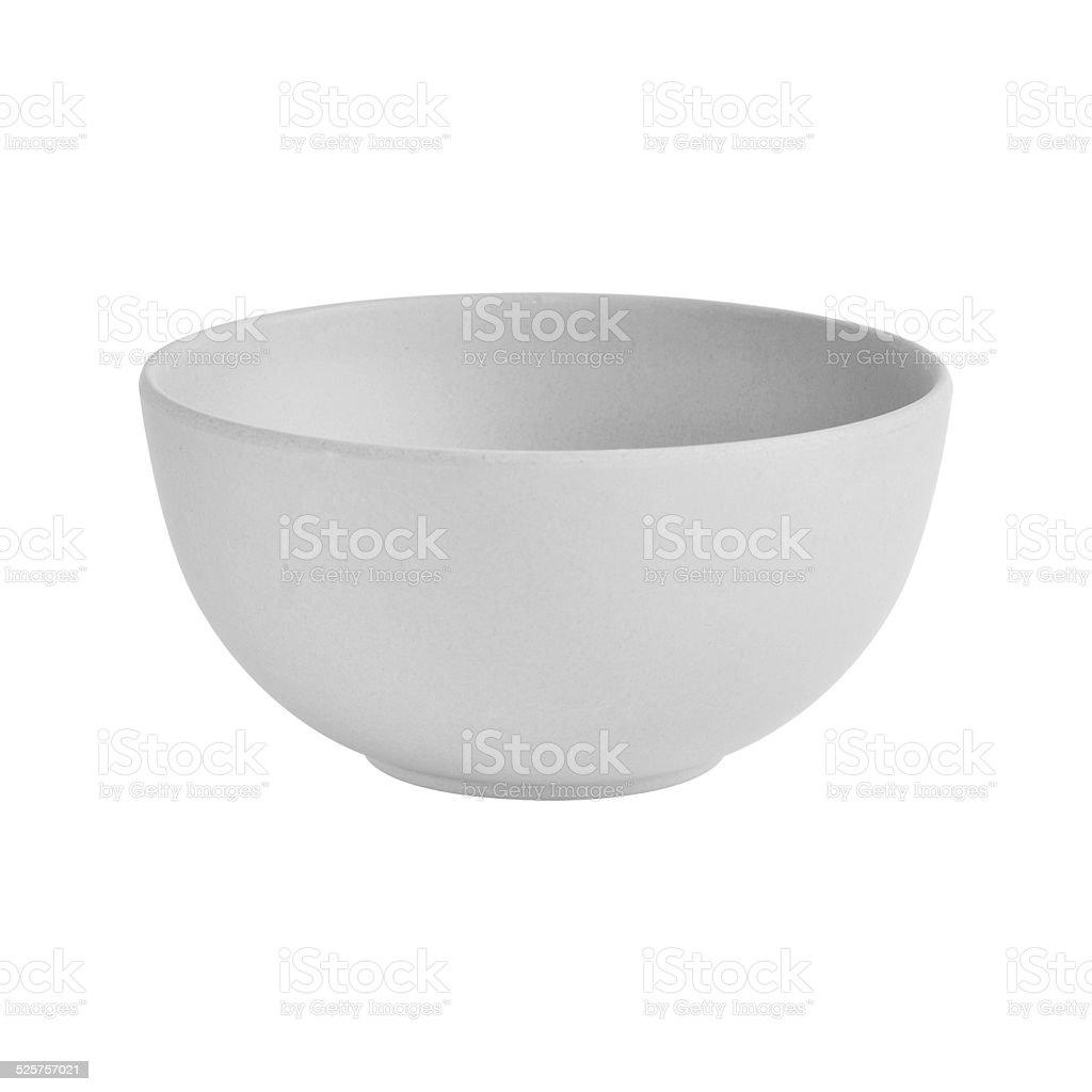 Empty Salad Bowl isolated stock photo