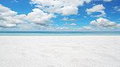 Empty Sandy Beach Copy Space Scene