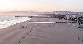 istock Empty Santa Monica Beach During Covid-19 Pandemic 1215255338