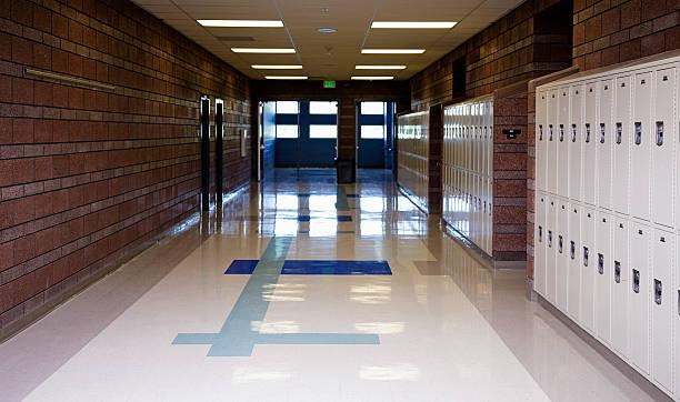 empty school hallway - entré bildbanksfoton och bilder