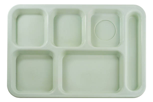 Empty School Lunch Tray stock photo