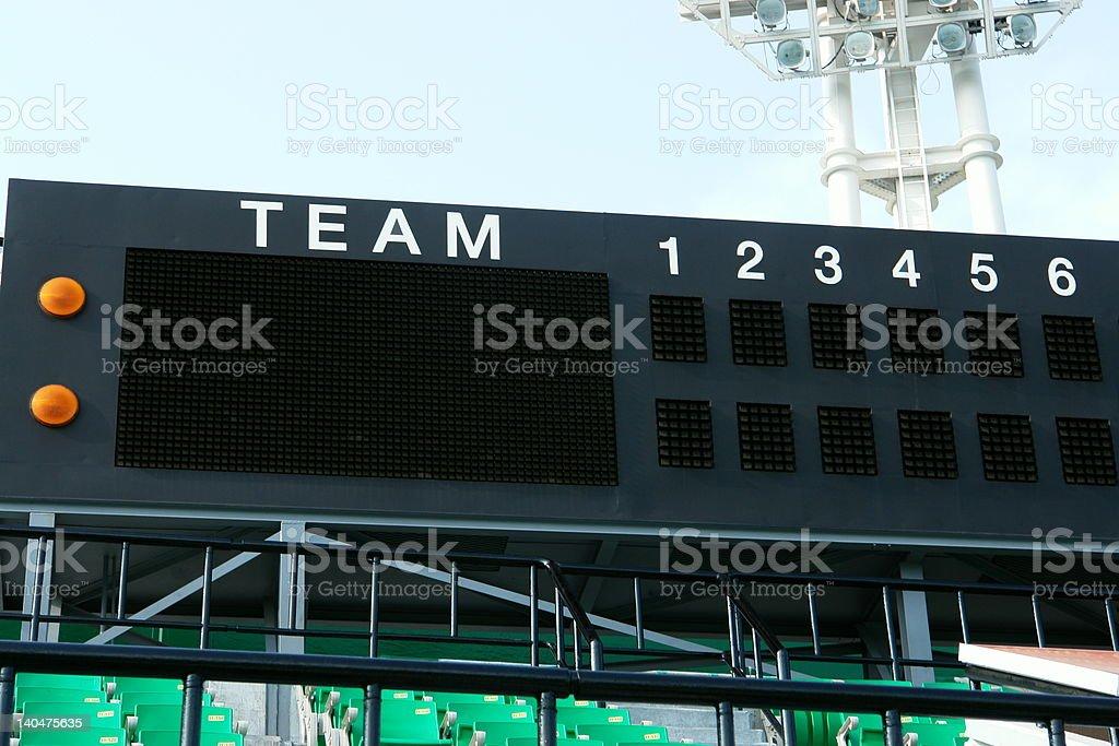 empty scoreboard royalty-free stock photo