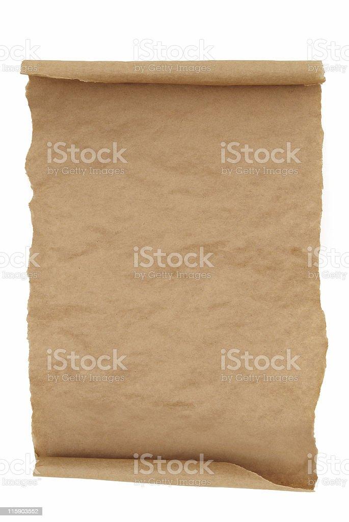 Empty Scroll stock photo