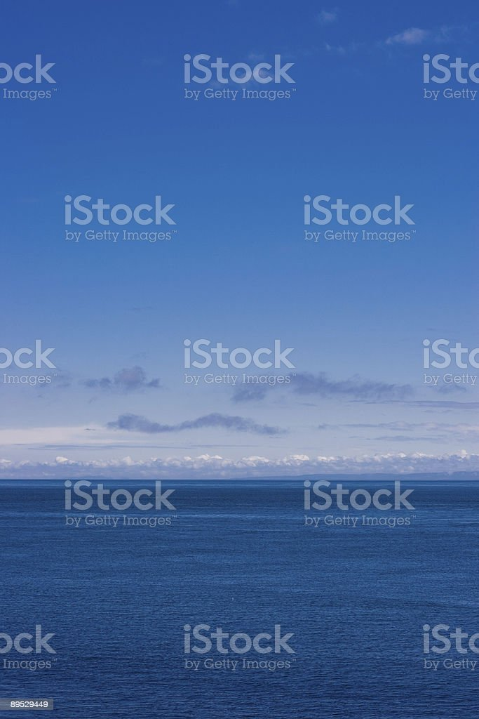 Empty Sea and Sky royalty-free stock photo