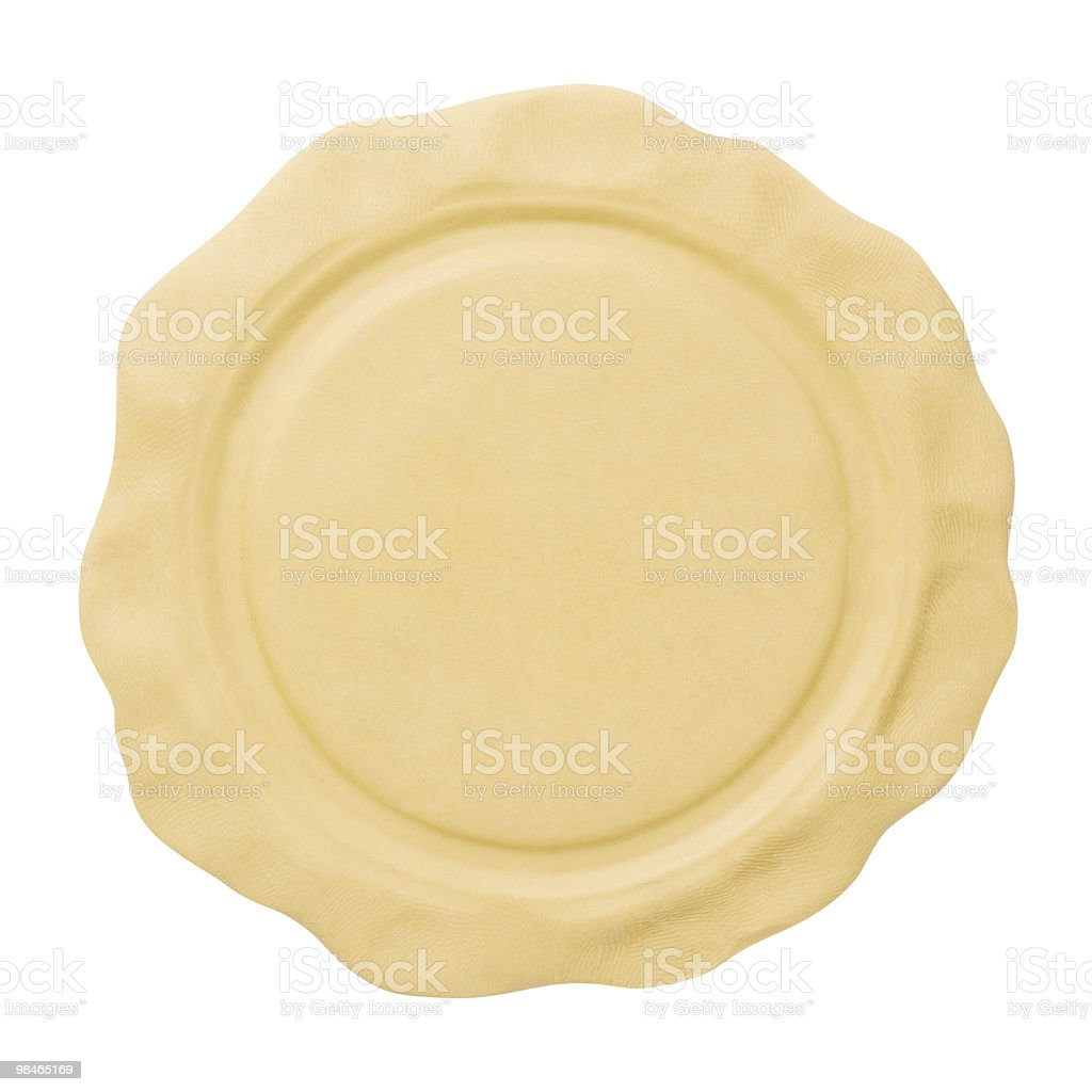 Empty seal. Copy space pattern royalty-free stock photo