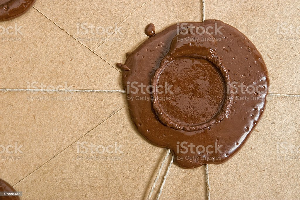 Empty sealing wax stamp royalty-free stock photo