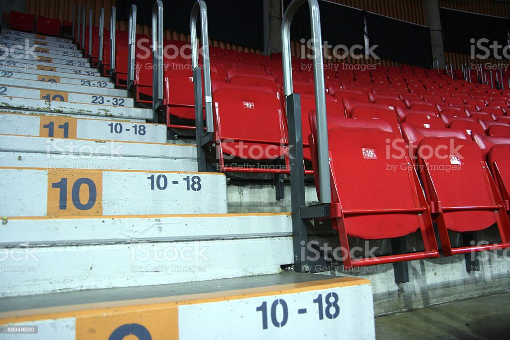Empty Seats and Stairs royalty-free stock photo