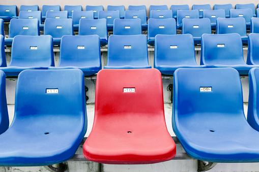 171581046 istock photo Empty seats at an outdoor stadium 544334354