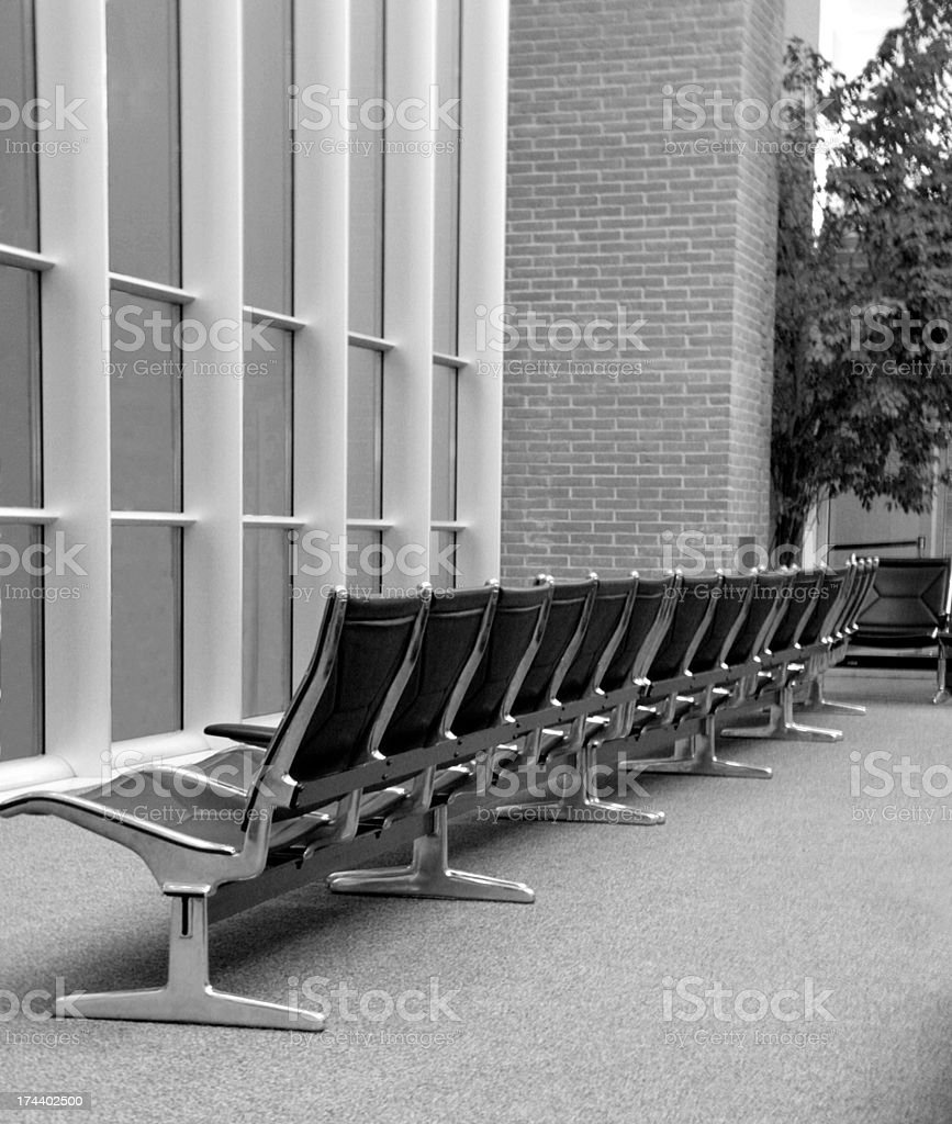 Empty seats at the airport royalty-free stock photo