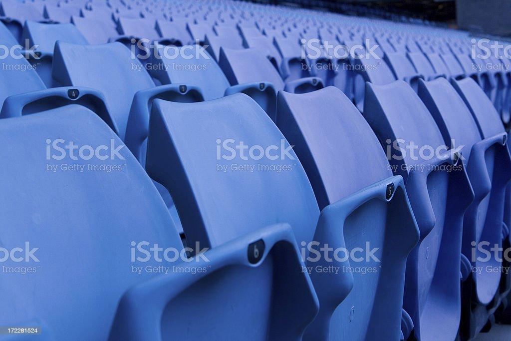 Empty seats in a sport stadium royalty-free stock photo