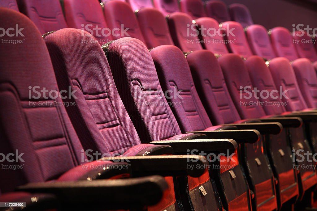 empty seats in an auditorium royalty-free stock photo