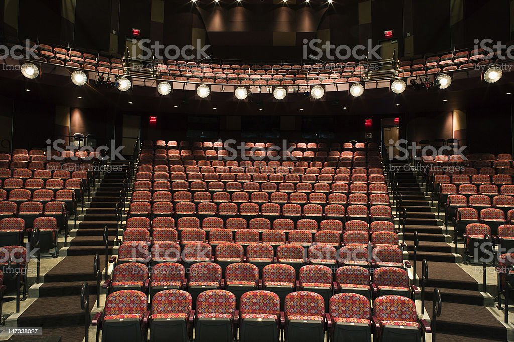 Empty Seats in Theater stock photo