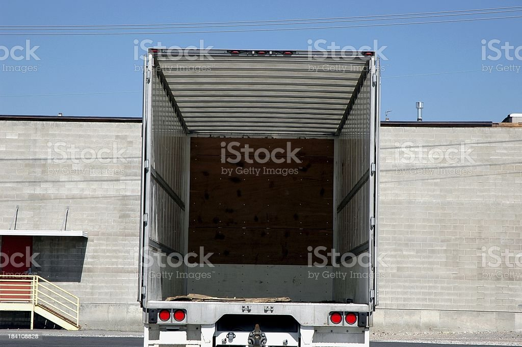 Empty Semi stock photo