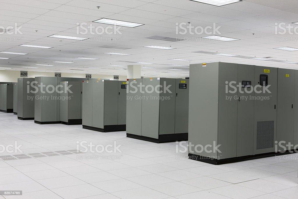 Empty server room royaltyfri bildbanksbilder