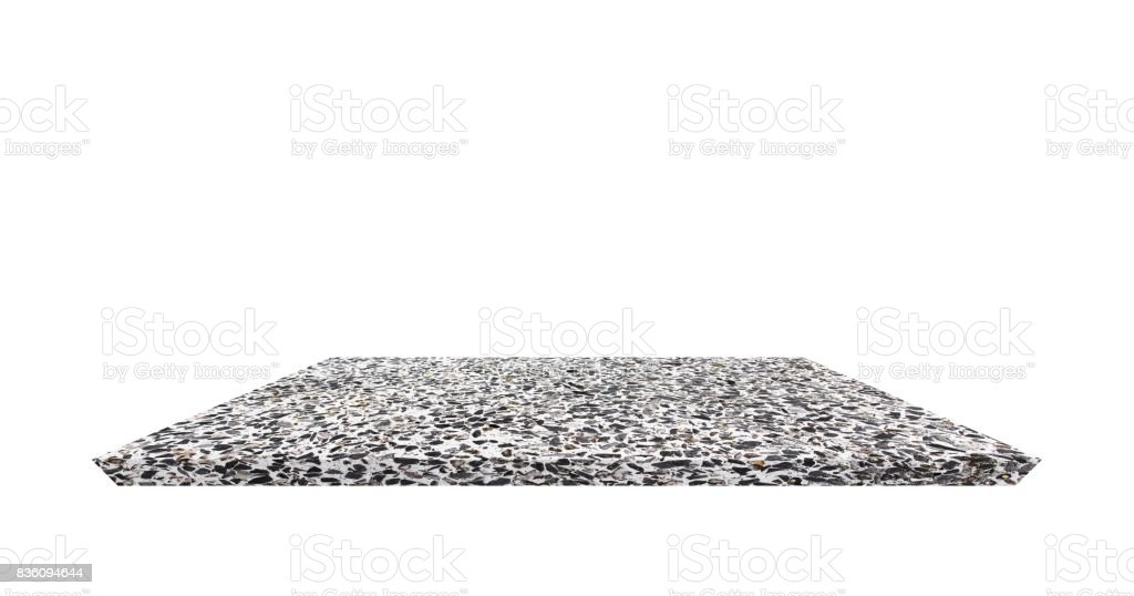 Empty Shelf Top Of Terrazzo Floor Table Or Counter On White Background For Product Display Stock Photo Download Image Now
