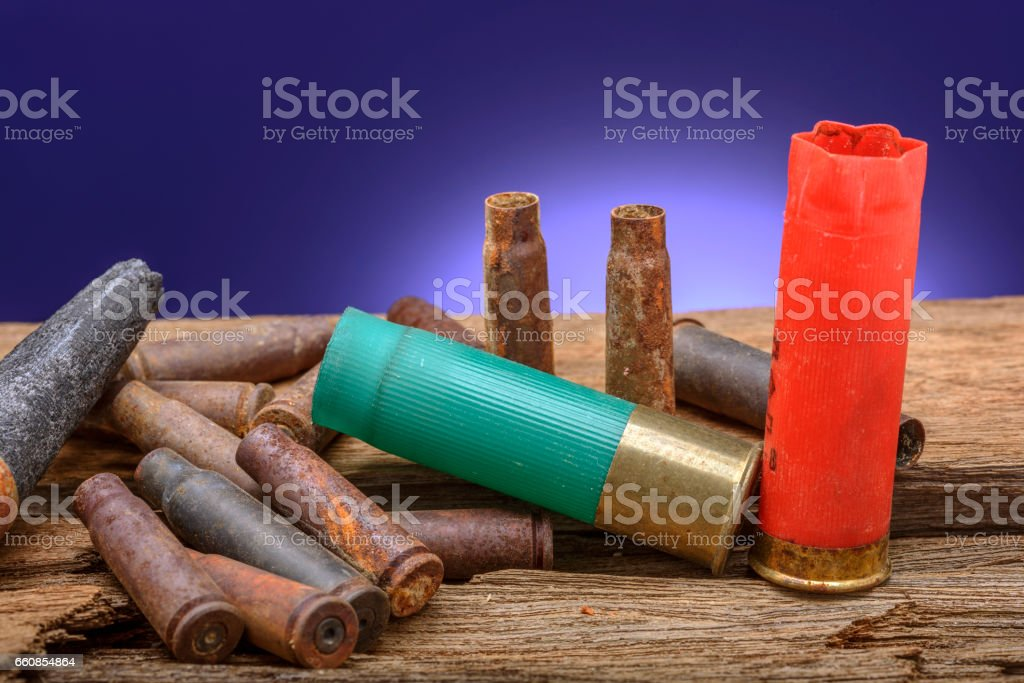Empty Shell Casings stock photo