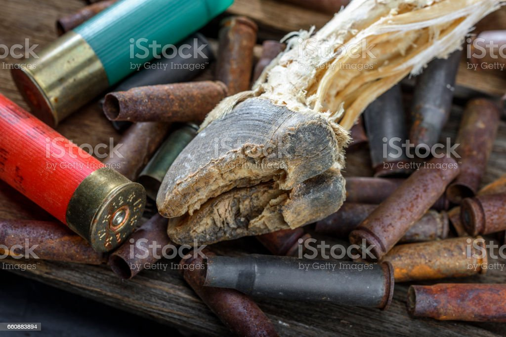Empty Shell Casings stock photo