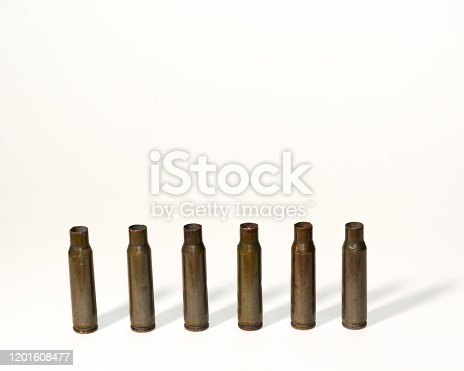 istock empty shells from cartridges for a firearm 1201608477
