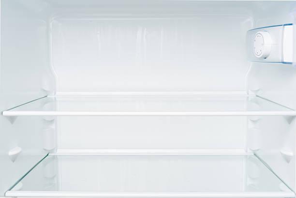 leere regale in kühlschrank. - offene regale stock-fotos und bilder