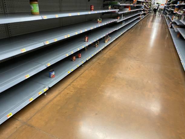 Cтоковое фото Empty shelves