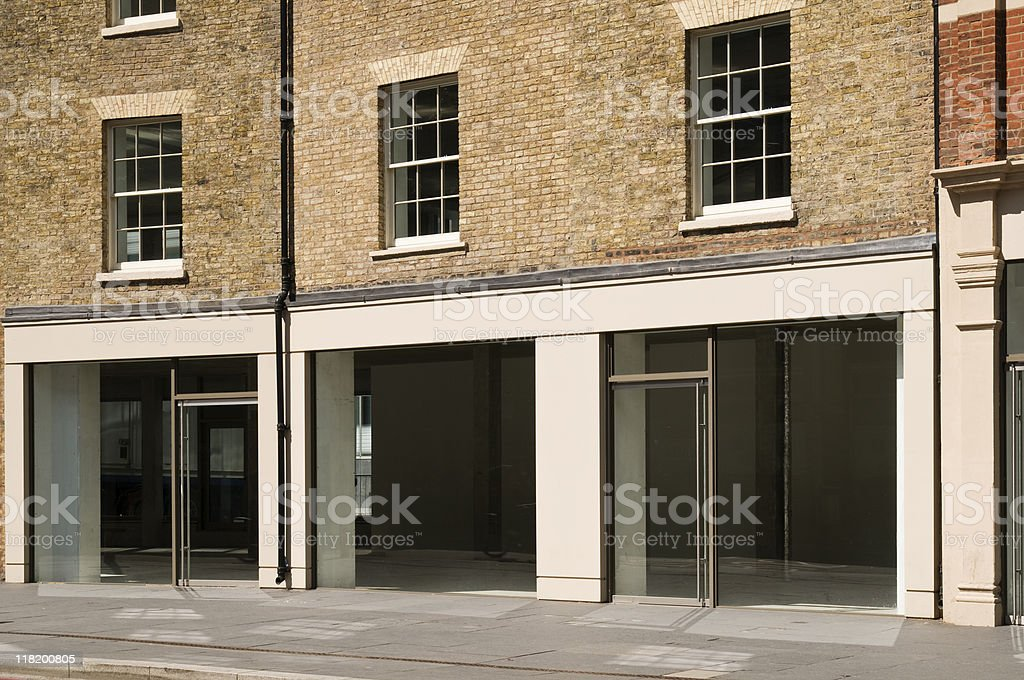 Empty Shop in London royalty-free stock photo