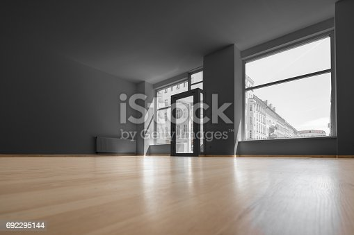 istock empty shop - vacant room with shopping window 692295144