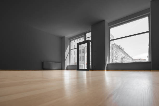 empty shop - vacant room with shopping window - cue ball stock pictures, royalty-free photos & images