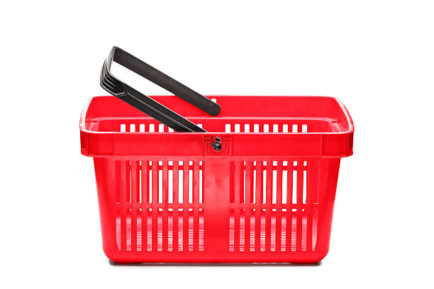 Empty shopping basket A studio shot of an empty shopping basket isolated on white background shopping basket stock pictures, royalty-free photos & images