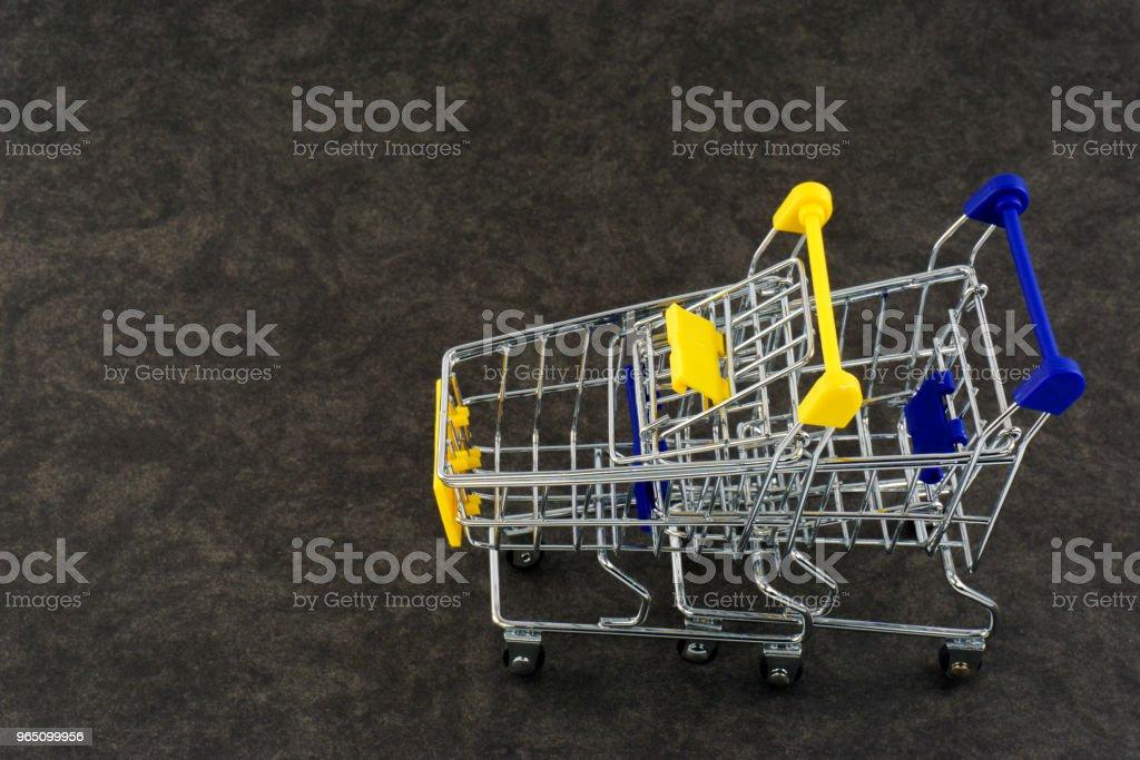Empty Shopping Carts zbiór zdjęć royalty-free