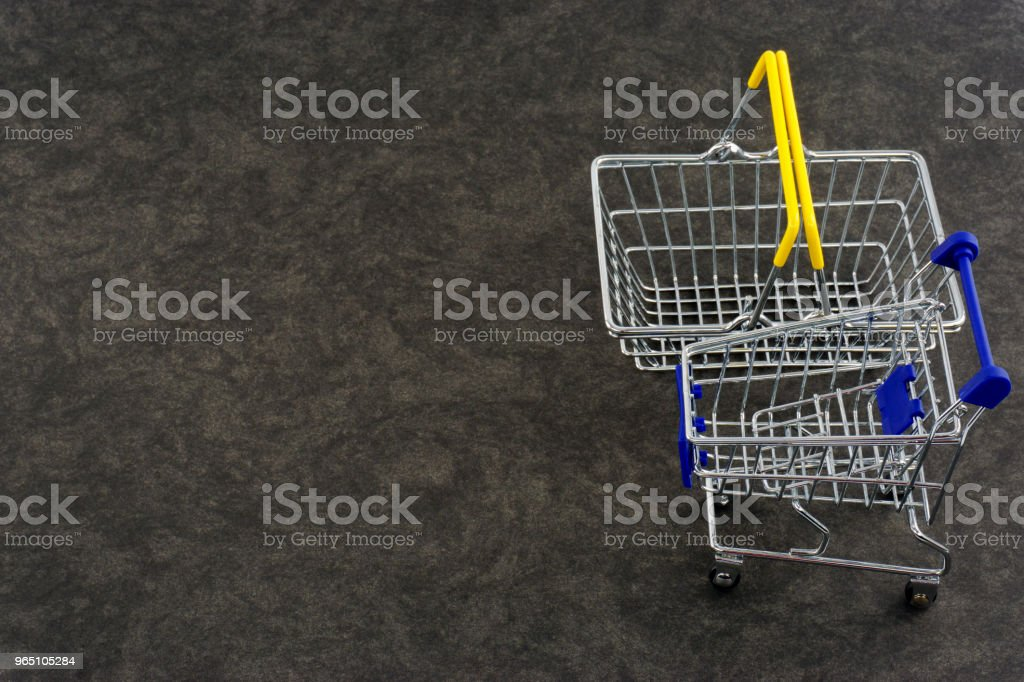 Empty Shopping Carts royalty-free stock photo
