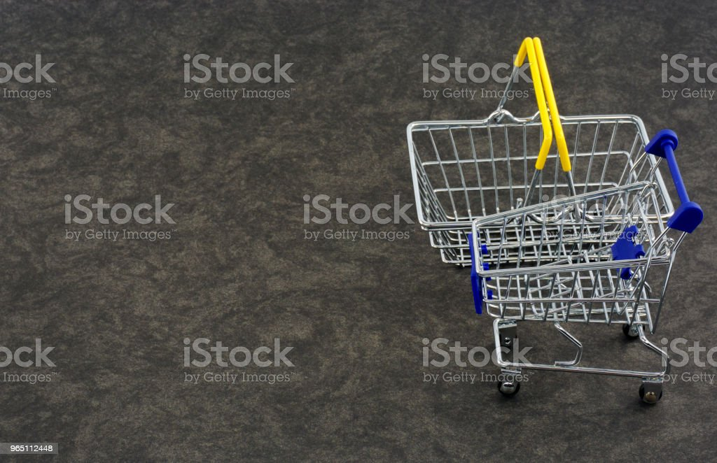 Empty Shopping Carts royalty-free stock photo