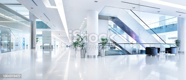 istock Empty shopping centre in sunset, Dubai 1004315422