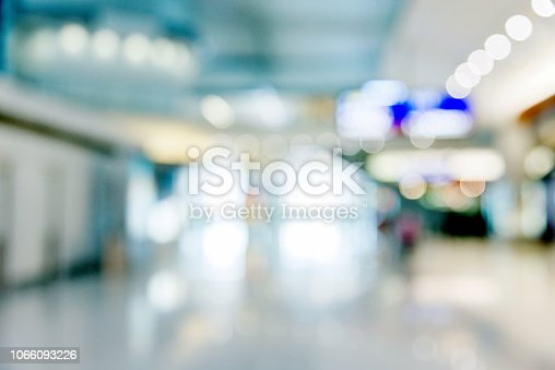 Empty shopping mall background.