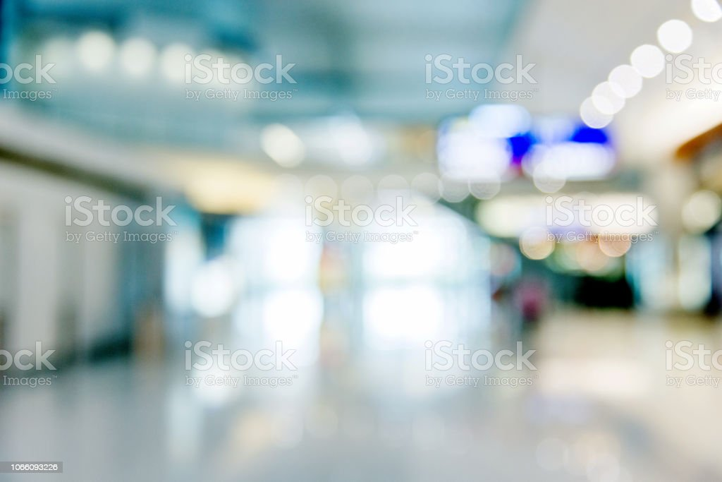 Empty shopping mall background stock photo